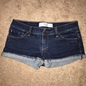 Abercrombie & Fitch cuffed jean shorts size 2